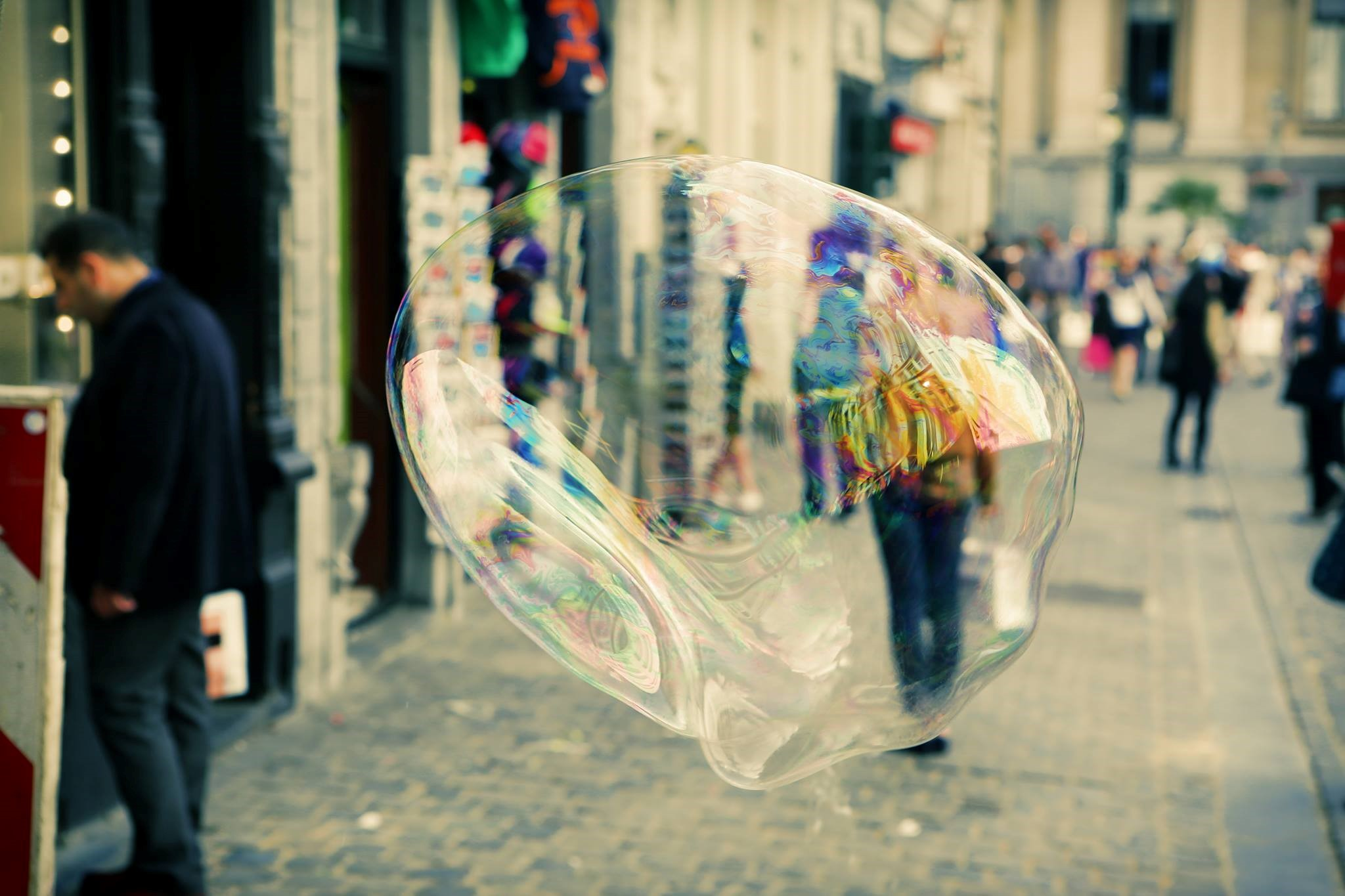 stock image of big bubble